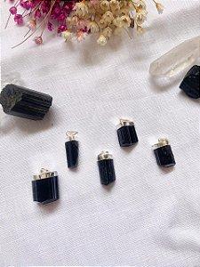 Pingente Mini Turmalina Negra