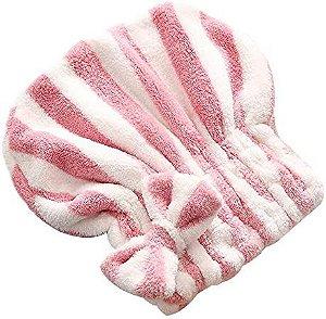 Toalha Para Cabelo Modelo Touca Microfibra