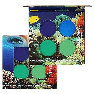 Paleta Quarteto de Sombras Ludurana Fundo do Mar