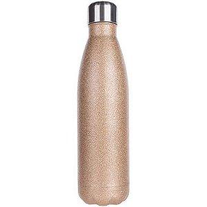 Garrafa inox dourada com glitter personalizada