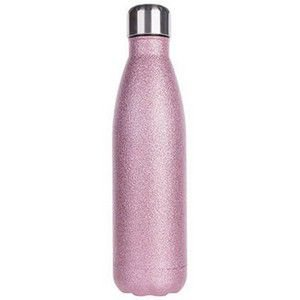 Garrafa inox rosa com glitter personalizada