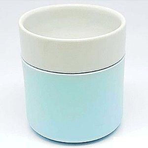 Copo porcelana com base Silicone azul