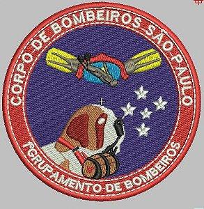 BRASÃO REDONDO 1° GRUPAMENTO DE BOMBEIROS