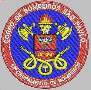 BRASÃO REDONDO 13° GRUPAMENTO DE BOMBEIRO