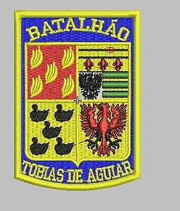 BRASÃO 1 DE CHOQUE (ROTA) FUNDO AZUL POLÍCIA MILITAR (BORDADO MILITAR) PMESP