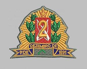 BRASÃO 2 DE OURO POLÍCIA MILITAR (BORDADO MILITAR)