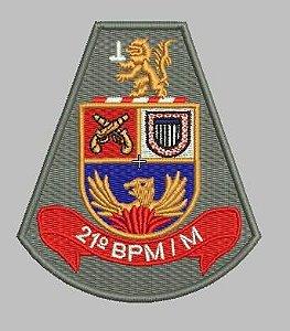BRASÃO 21 BPM/M POLÍCIA MILITAR