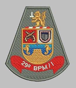BRASÃO 29 BPM/I POLÍCIA MILITAR (BORDADO MILITAR)