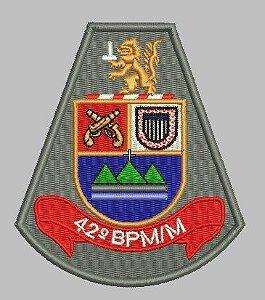 BRASÃO 42 BPM/M POLÍCIA MILITAR