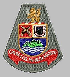 BRASÃO CPA M-3 CEL PM HILDA MACEDO POLÍCIA MILITAR