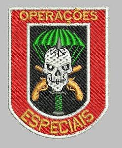 BRASÃO OPERAÇÕES ESPECIAIS (BORDADO MILITAR)