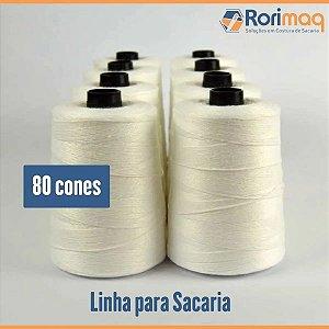 Fio/Linha para costurar sacaria - 80 cones - 20kg