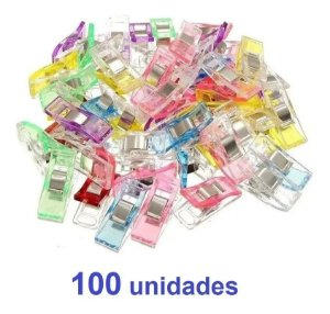 Kit com 100 prendedores pequenos patchwork costura