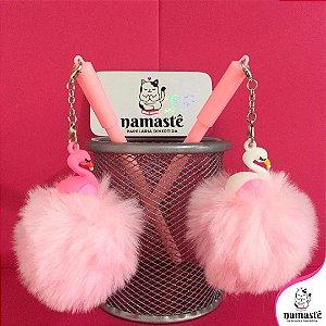 Caneta Pompom perfumado com Flamingo