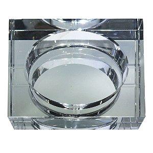 Cinzeiro em vidro transparente