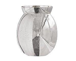 Vaso prata em Vidro P