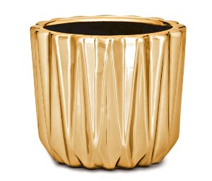 Mini Cachepot Dourado