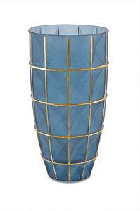 Vaso Azul Dourado
