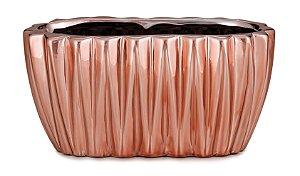Floreira Rose Gold em ceramica M