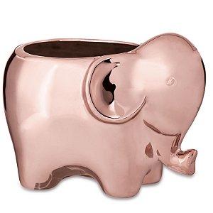 Cachepot Elefante Rose Gold em Ceramica