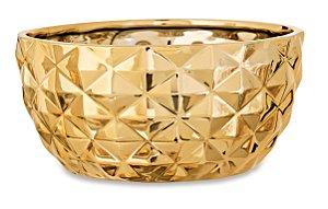 Cachepot Dourado em Ceramica G
