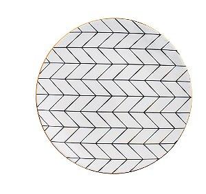 Prato Decorativo em ceramica