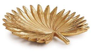 Folha em Poliresina Dourada