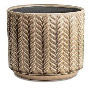 Cachepot cinza em ceramica M
