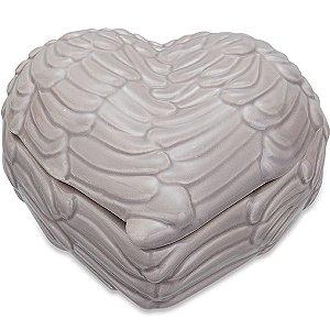 Caixa de Asa Cinza em ceramica