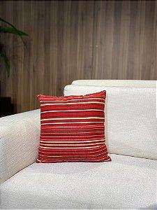 Almofada Vermelha listrada
