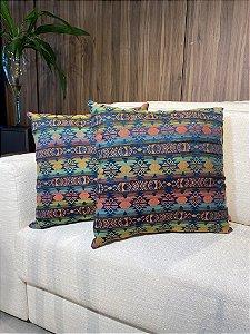 Almofada decorativa colorida