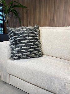 Almofada decorativa Preta de pelo