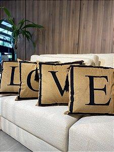 Almofada LOVE 4 peças