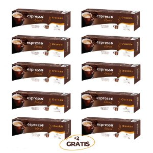 kit Promocional 100 cápsulas de chocolate + 20 grátis  compatível Nespresso