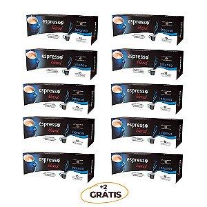 kit Promocional 100 cápsulas de Intenso + 20 grátis compatível Nespresso