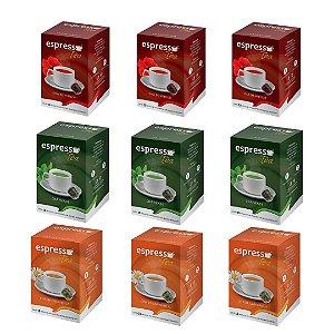 kit Promocional 90 cápsulas de Cha sortidas + 20 grátis compatível Nespresso