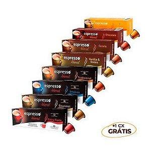 100 cápsulas aromas sortidos compatível Nespresso + 10 grátis de tradicional Promocional