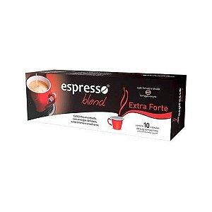 Cápsulas de café Extra forte com 10 unidades compatível Nespresso