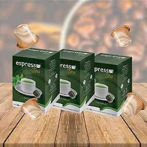 Kit 3 cxs c/10 cápsulas de Chá cada cx compatível Nespresso sabor Chá verde