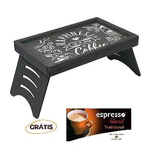 Mesa Multiuso Rústica Giz + grátis 1 cx c/10 cápsulas de café sabor tradicional