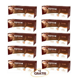 kit 100 cápsulas de café aroma canela + 20 grátis compatível Nespresso