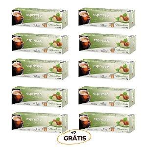 Kit 100 cápsulas de café aroma macadãmia + 20 grátis compatível Nespresso
