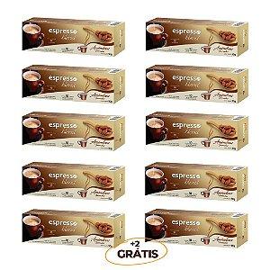 kit 100 cápsulas de café aroma Amêndoas torradas + 20 grátis  compatível Nespresso