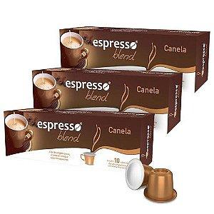 Kit 10 cxs c/10 cápsulas de café compatível  Nespresso sabor canela