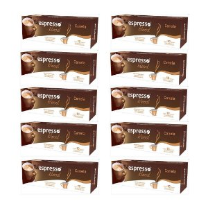 Kit 10 cxs c/10 cápsulas de café sabor canela