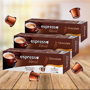 Kit 20 cxs cápsulas de café aroma chocolate