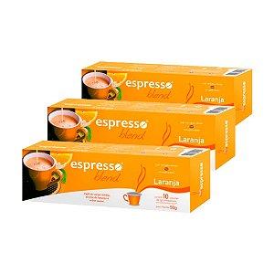 30 cápsulas de café sabor Laranja