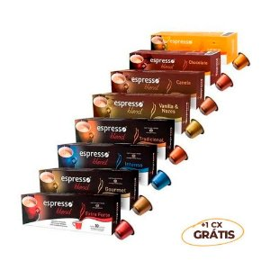 Kit 100 cápsulas de café aromas sortidos + 10 grátis Intenso