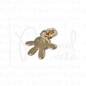 Puxador Mão Mickey c/ carrinho - Dourado