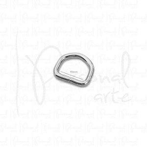 Meia Argola 15mm - Prata